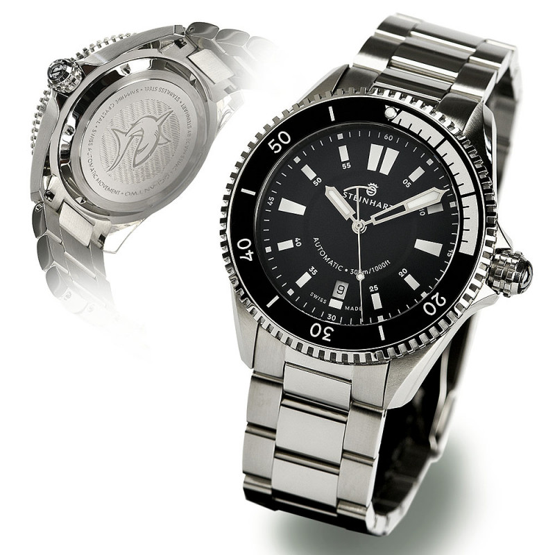 Ocean Two Steinhart Taucheruhr Black