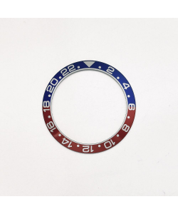 Aluminiuminlay für GMT Ocean 39 Blue-Red
