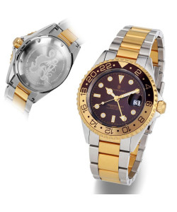 Ocean One GMT two- tone CHOCOLATE