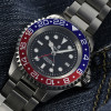OCEAN Forty Four Steinhart Taucheruhr GMT BLUE-RED - Zifferblatt black
