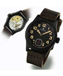 MILITARY 42 handaufzug black