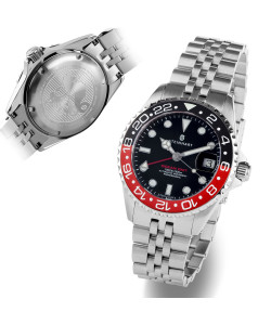 Ocean 39 GMT.2 BLACK-RED Ceramic