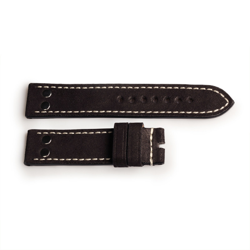 Strap black with rivets, size M