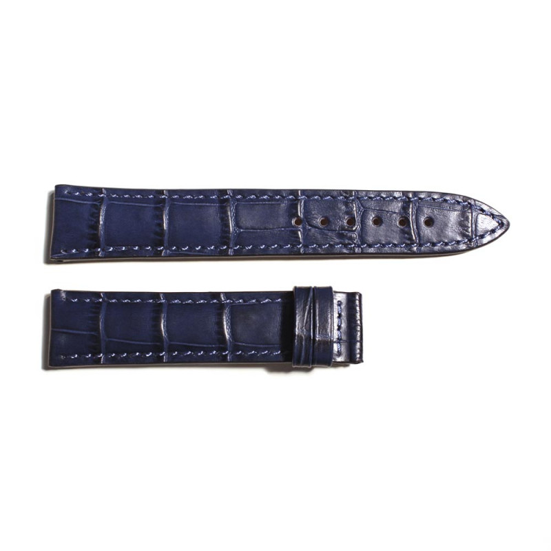 Leather strap blue for Marine 38 size M