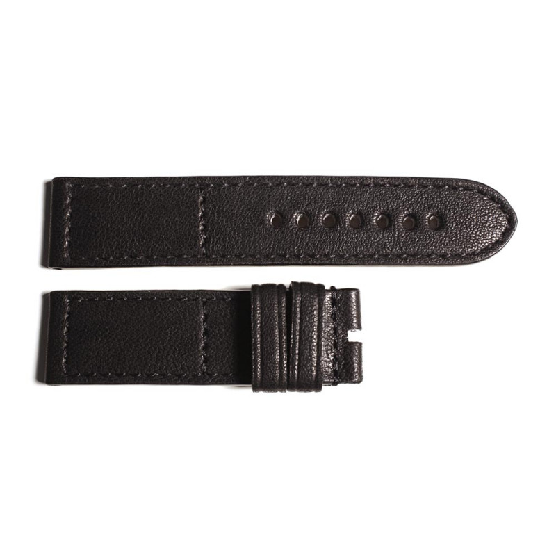 Leather strap black size M