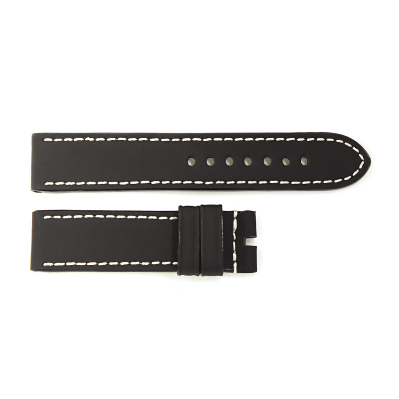 Rubber strap black for Ocean 2, size L, white stitching
