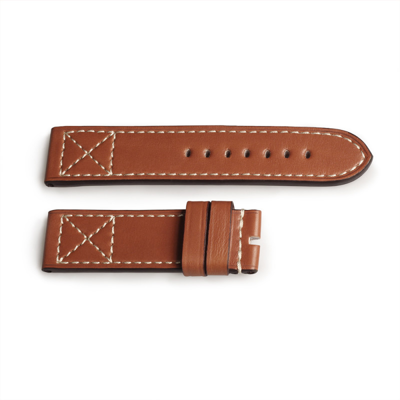 Leather strap ESPRESSO Old Vintage size S