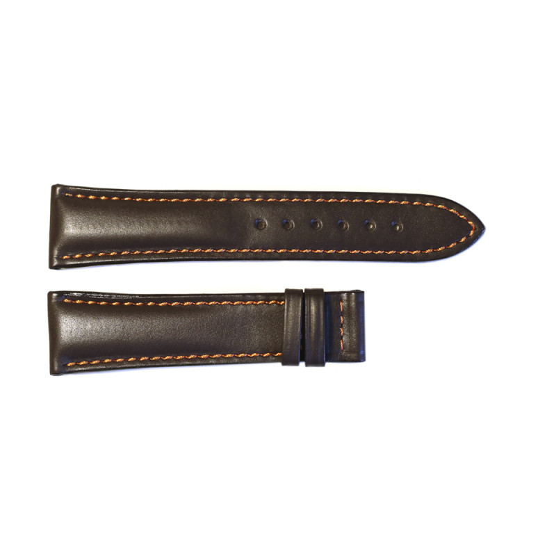 Leather strap brown for  Racetimer size S
