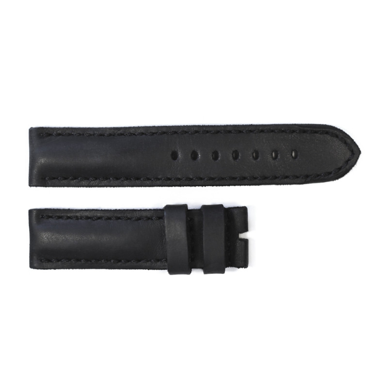 Leather strap black tone in tone size M