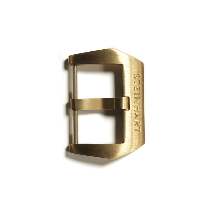 PRE-V buckle Bronze satined 24 mm with logo