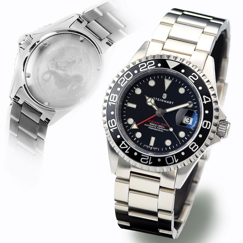 GMT-OCEAN Steinhart Diver Watch 1 BLACK Aluminium