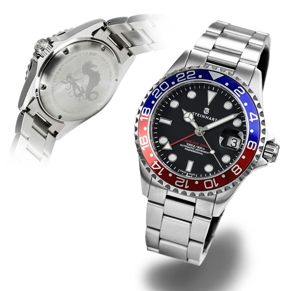 Steinhart GMT-OCEAN One blue-red