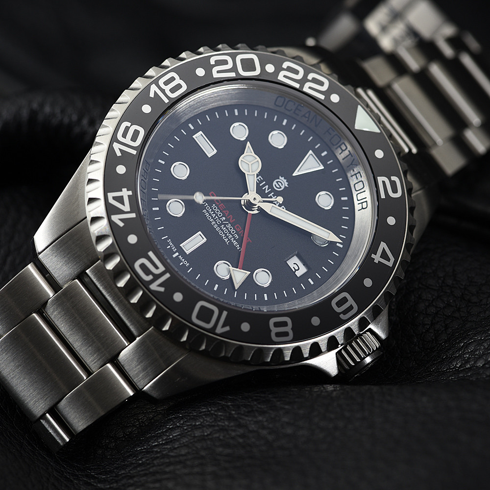 Steinhart Ocean Forty Four Gmt Black Keramik Taucheruhr