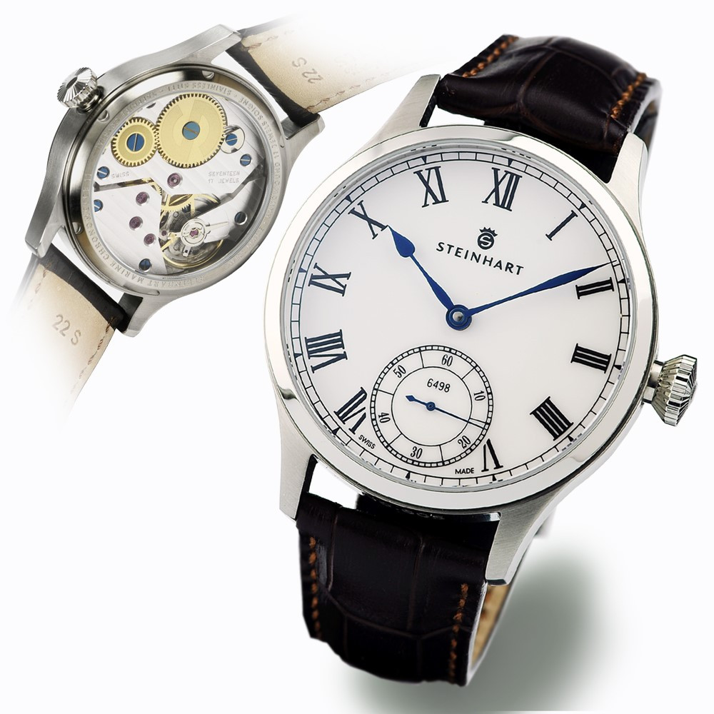 Marine chronometer 44 roman marine watches steinhartwatches for Marine watches