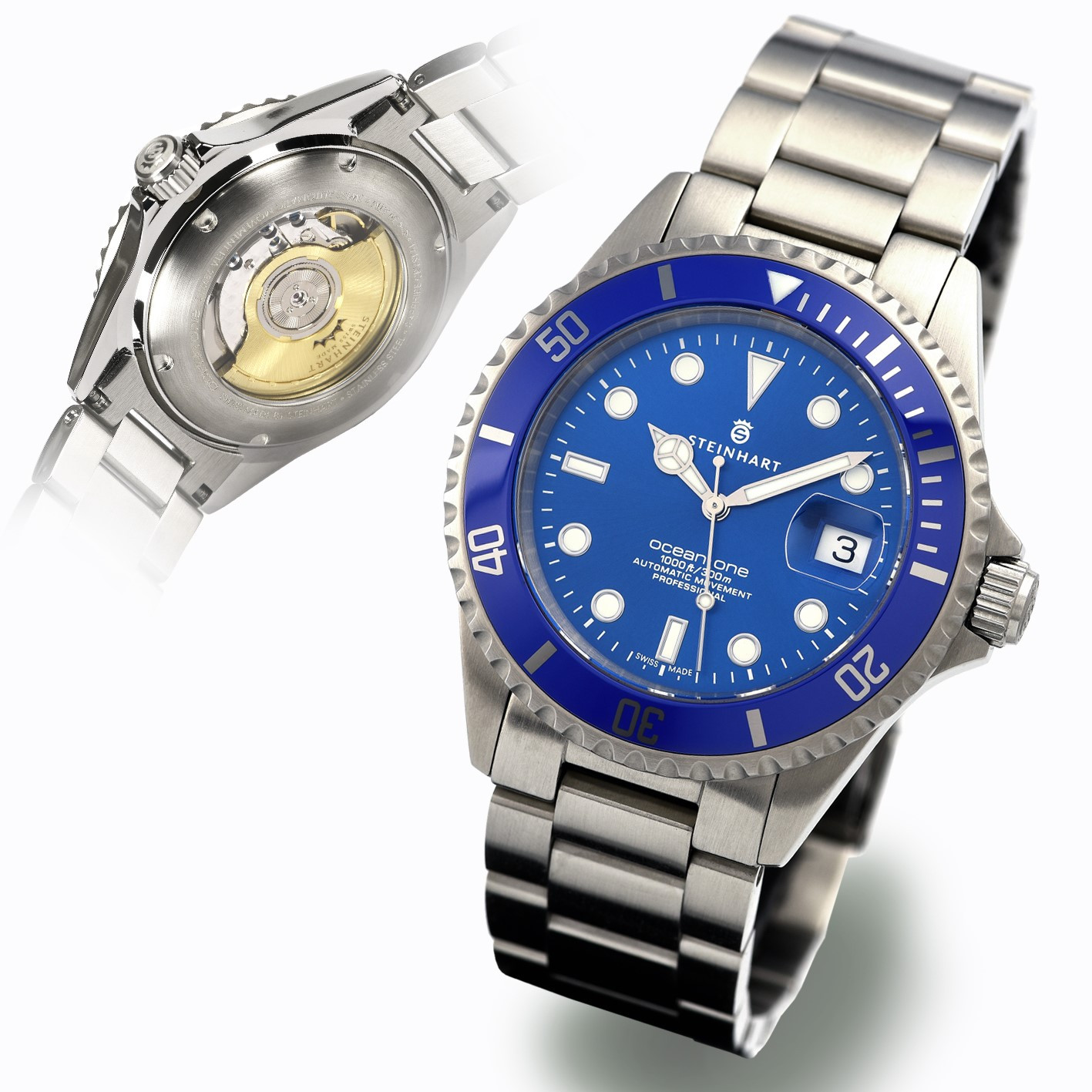 Ocean One Premium Blue Diver Watches Steinhartwatches