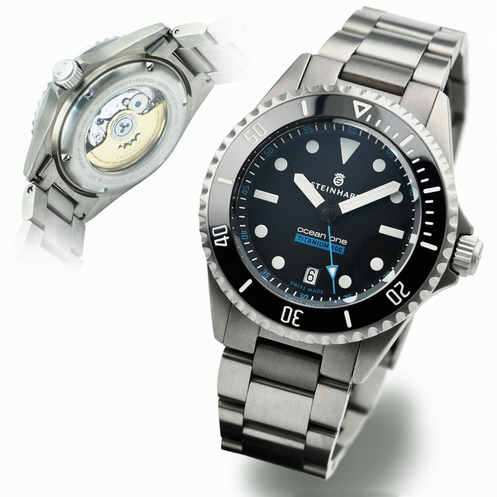 Ocean titanium 500 premium diver watches steinhartwatches for Titanium watches