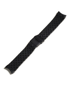 Stainless steel bracelet for Triton 100 ATM Black DLC