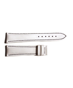Special strap white with black stitching, size M