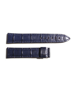 Leather strap blue for Marine 38 sizeX S