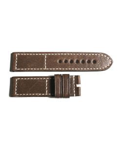 Leather strap brown old vintage, size M
