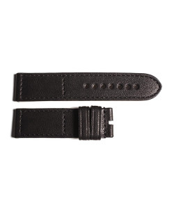 Leather strap black size S