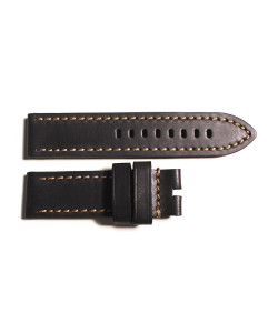 Leather strap black marone vintage size M