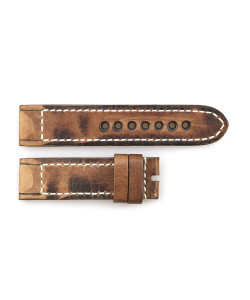 Leather strap vintage brown for Military 47 size M