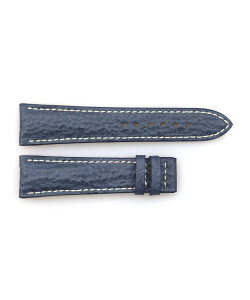 Leather strap blue for Marine Chronograph size M