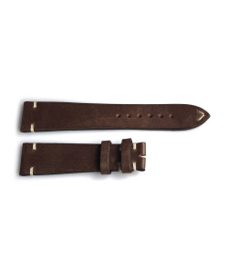 Leather strap vintage brown for Ocean 1 bronze size XS