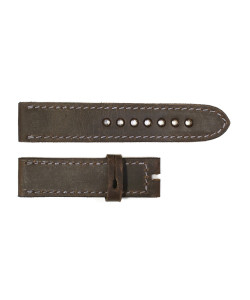 Strap dark brown with grey stitching size S