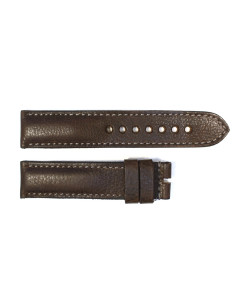Strap dark brown with grey stitching size M