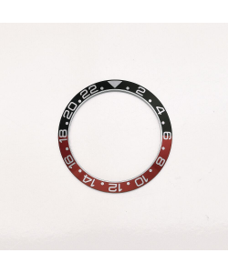 Aluminium inlay black-red for GMT-Ocean One 39