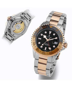 Ocean One GMT two-tone BLACK/KHAKI