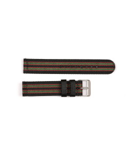 Nato strap black/red/green