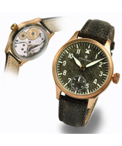 Nav. B-Uhr 42 Handaufzug Bronze black antique