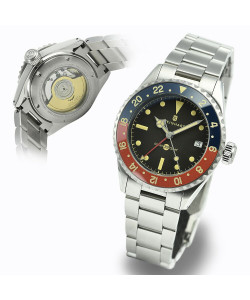 Ocean 39 vintage GMT premium BLUE-RED Ceramic