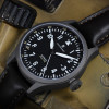 Nav.B-Uhr Steinhart 44 Pilot Watch Dual Time Titanium - Pilot Watch Strap Vintage leather