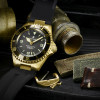 OCEAN 1 Steinhart Diver Watch Bronze dark brown - Case with Rubberstrap