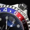 GMT-OCEAN Steinhart Diver Watch 1 BLUE RED - Bezel Alu blue-red