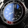 GMT-OCEAN Steinhart Diver Watch 1 BLACK RED - Sapphire glass flat