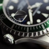 OCEAN 1 Steinhart Diver Watch GREEN - crown and bezel