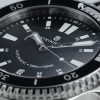 Ocean Two Steinhart Diver Watch Black - bezel stainless steel