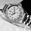 Ocean Two Steinhart Diver Watch White - dial and wristwatch stainless steel