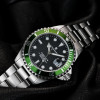 Ocean One 39 Steinhart Diver Watch green - Front Wristwatch stainless steel