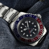 OCEAN Forty Four Steinhart Diver Watch GMT BLUE-RED - Sapphire glass flat