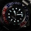 OCEAN Forty Four Steinhart Diver Watch GMT BLUE-RED - hour and minute with Superluminova BGW9