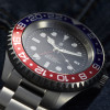 OCEAN Forty Four Steinhart Diver Watch GMT BLUE-RED - Bezel aluminum