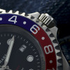 OCEAN Forty Four Steinhart Diver Watch GMT BLUE-RED - screwed Crown Stainless steel