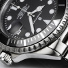 OCEAN 1 Steinhart Diver Watch BLACK Keramik - Dial and crown stainless steel