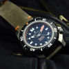 TRITON 1000 Steinhart Diver Watch Titan - Case and Strap Vintage leather grey 24 x22 mm